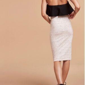 Wilfred white speckled Skirt